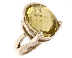 anillo color limon