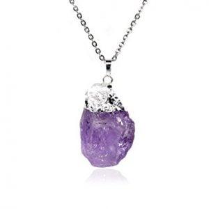 collar de cuarzo violeta