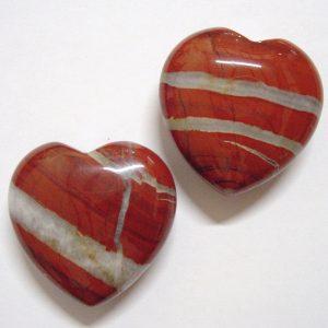 cuarzo jaspeeado con forma de corazon