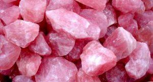cuarzo rosado bruto