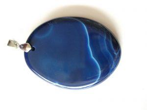 colgante de agata azul