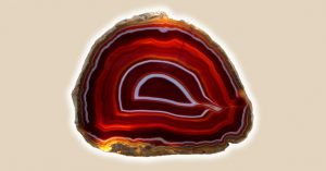 agata de multicolor roja