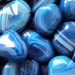piedras de agata azul