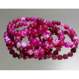 pulsera de agata de color rosa