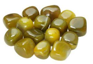 piedra agata amarilla
