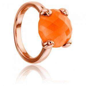 anillo de agata de bronze