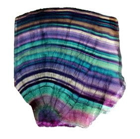 la piedra de fluorita arcoiris
