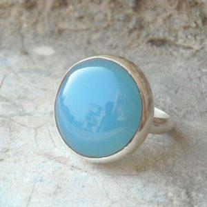 anillo de piedra azul