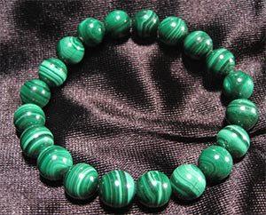 pulsera de malaquita color verde