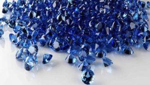 zafiro de color azul