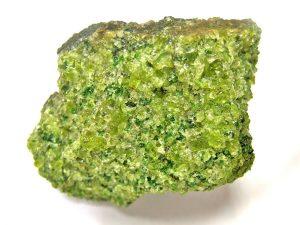 mineral de olivino verde
