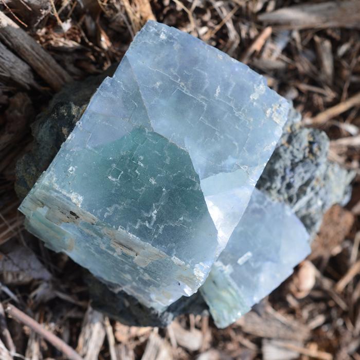 cristal de fluorita